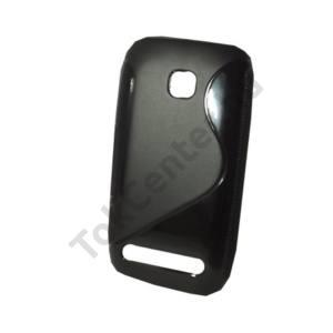 Nokia 603 Telefonvédő gumi / szilikon (S-line) FEKETE