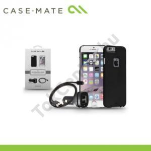 Apple iPhone 6 Plus 5.5`` CASE-MATE Kezdőcsomag (műanyag telefonvédő BARELY THERE FEKETE, képernyővédő fólia, USB adapter és kábel)