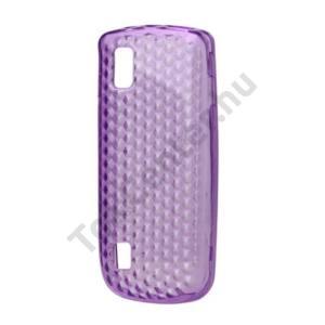 Nokia 300 Asha Telefonvédő gumi / szilikon (gyémánmintás) LILA