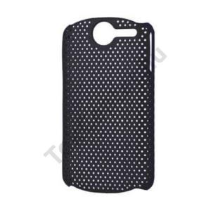 Huawei Ideos X5 Pro (U8800) Műanyag telefonvédő lyukacsos FEKETE