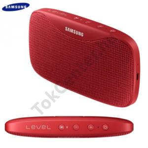 BLUETOOTH hordozható hangszóró (3.5 mm jack csatlakozó is, 2600 mAh akku, mikrofon, NFC, IPx7, Level Box SLIM) PIROS