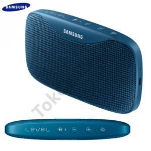 BLUETOOTH hordozható hangszóró (3.5 mm jack csatlakozó is, 2600 mAh akku, mikrofon, NFC, IPx7, Level Box SLIM) KÉK