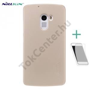 NILLKIN SUPER FROSTED műanyag telefonvédő (gumírozott, érdes felület, képernyővédő fólia, tisztítókendő) ARANY