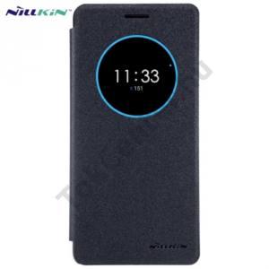 Lenovo ZUK Z2 Pro NILLKIN SPARKLE műanyag telefonvédő (mikroszálas bőr flip, oldalra nyíló, S-View Cover) FEKETE