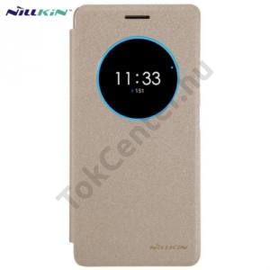 Lenovo ZUK Z2 Pro NILLKIN SPARKLE műanyag telefonvédő (mikroszálas bőr flip, oldalra nyíló, S-View Cover) ARANY