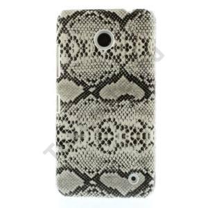 Nokia Lumia 630 Műanyag telefonvédő (kígyóbőr mintás) FEHÉR