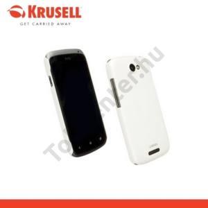 HTC One S (Z520e) KRUSELL ColorCover műanyag telefonvédő FEHÉR