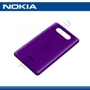 Nokia Lumia 820 Műanyag telefonvédő (akkufedél) LILA