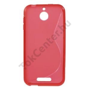 HTC Desire 510 Telefonvédő gumi / szilikon (S-line) PIROS