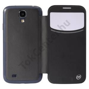 Samsung Galaxy S IV. (GT-I9500) METRANS műanyag telefonvédő (akkuf., flip,vezeték nélküli töltés, QI Wireless, hívószámkijelzés,S-View Cover) FEKETE