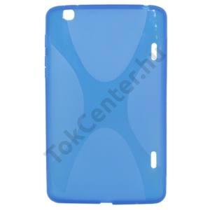 LG G Pad 8.3 (V500) Telefonvédő gumi / szilikon (X-line) ÁTLÁTSZÓ KÉK