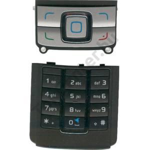 Nokia 6280 Készülék billentyűzet készlet (alsó és felső) FEKETE