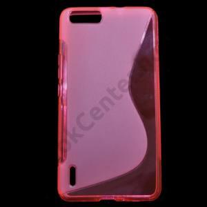 Huawei Honor 6 Plus Telefonvédő gumi / szilikon (S-line) RÓZSASZÍN