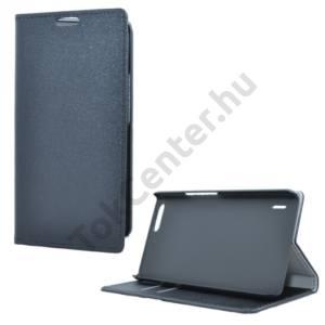 Huawei Honor 6 Plus Tok álló, bőr (FLIP, mágneses, oldalra nyíló, asztali tartó funkció) FEKETE