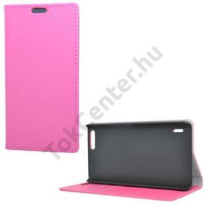 Huawei Honor 6 Plus Tok álló, bőr (FLIP, mágneses, oldalra nyíló, asztali tartó funkció) RÓZSASZÍN