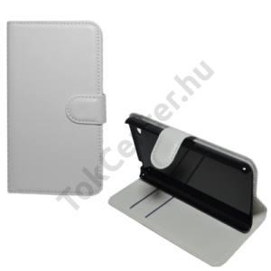 Lenovo S60 Tok álló, bőr (FLIP, oldalra nyíló, asztali tartó funkció) FEHÉR