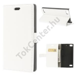 BlackBerry Z3 Tok álló, bőr (FLIP, oldalra nyíló, asztali tartó funkció) FEHÉR