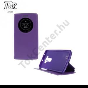 LG G Flex2 (H955) ROAR tok álló, bőr (FLIP, oldalra nyíló, asztali tartó funkció, View Window) LILA