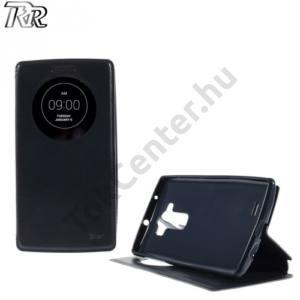 LG G Flex2 (H955) ROAR tok álló, bőr (FLIP, oldalra nyíló, asztali tartó funkció, View Window) SÖTÉTKÉK