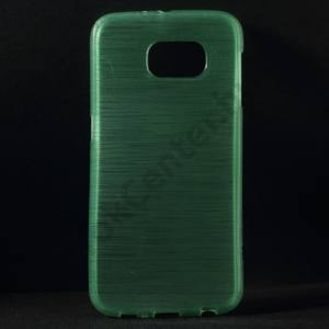 Samsung Galaxy S6 (SM-G920) Telefonvédő gumi / szilikon (szálcsiszolt mintázat) CYAN
