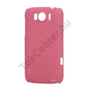 HTC Sensation XL (X315e) Műanyag telefonvédő (lyukacsos mintás) RÓZSASZÍN