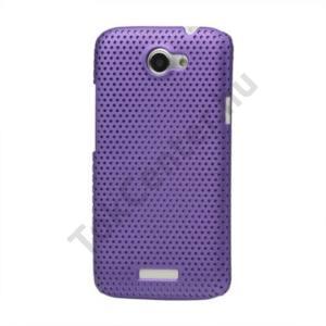 HTC One X (S720e) Műanyag telefonvédő lyukacsos LILA