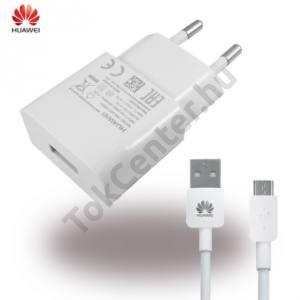 Hálózati töltő USB aljzat (5V / 1000mA, microUSB kábel) FEHÉR