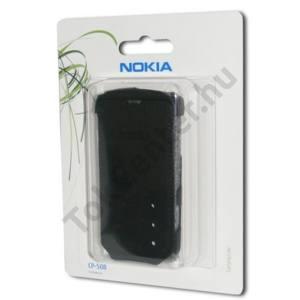 Nokia C6-00 Tok álló, textil, Flip, FEKETE