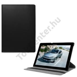 Lenovo Tab3 10 Tok álló, bőr (FLIP, asztali tartó funkció, 360°-ban forgatható) FEKETE