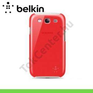 Samsung Galaxy S III. (GT-I9300) Műanyag telefonvédő SNAP SHIELD SHEER PIROS