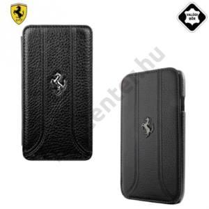 BlackBerry Z10 Ferrari California tok álló, valódi bőr (FLIP, oldalra nyíló) FEKETE