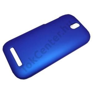 HTC One SV (C525e) Műanyag telefonvédő gumírozott SÖTÉTKÉK