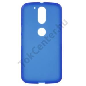 Lenovo Moto G4 / G4 Plus Telefonvédő gumi / szilikon (fényes keret) KÉK