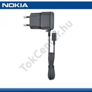 Hálózati töltő (microUSB, 5V / 750mA, energiatakarékos) FEKETE