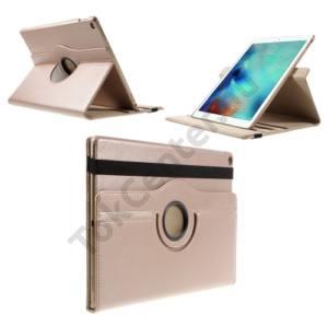 Apple IPAD Pro 12.9 Tok álló, bőr (FLIP, asztali tartó funkció, 360°-ban forgatható) ROZÉARANY