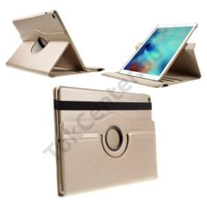 Apple IPAD Pro 12.9 Tok álló, bőr (FLIP, asztali tartó funkció, 360°-ban forgatható) ARANY