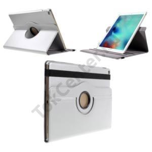 Apple IPAD Pro 12.9 Tok álló, bőr (FLIP, asztali tartó funkció, 360°-ban forgatható) EZÜST