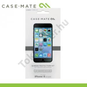Apple iPhone 6 Plus 5.5`` CASE-MATE képernyővédő fólia (2 db-os, törlőkendő) CLEAR
