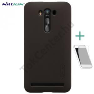 Asus Zenfone 2 Laser (ZE550KL) NILLKIN SUPER FROSTED műanyag telefonvédő (gumírozott, érdes felület, képernyővédő fólia, tisztítókendő) BARNA
