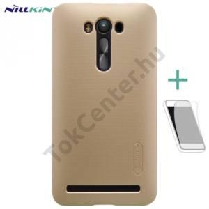 Asus Zenfone 2 Laser (ZE550KL) NILLKIN SUPER FROSTED műanyag telefonvédő (gumírozott, érdes felület, képernyővédő fólia, tisztítókendő) ARANY
