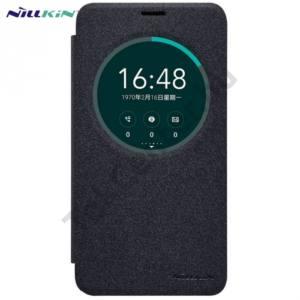 Asus Zenfone 2 Laser (ZE550KL) NILLKIN SPARKLE műanyag telefonvédő (mikroszálas bőr flip, oldalra nyíló, hívószámkijelzés, S-View Cover) FEKETE