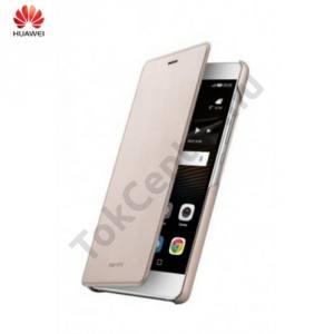 Huawei P9 lite Tok álló, bőr (FLIP, oldalra nyíló) ARANY