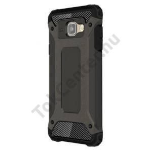 Samsung Galaxy A7 (2016) (SM-A710F) Defender műanyag telefonvédő (közepesen ütésálló, gumi / szilikon belső, fémhatás) BRONZ