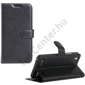 Lenovo Vibe K5 / Vibe K5 Plus Tok álló, bőr (FLIP, oldalra nyíló, asztali tartó funkció) FEKETE
