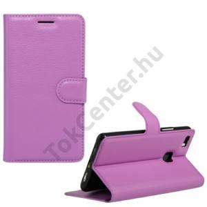 Huawei P9 lite Tok álló, bőr (FLIP, oldalra nyíló, asztali tartó funkció) LILA