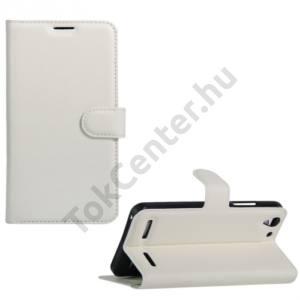 Lenovo Vibe K5 / Vibe K5 Plus Tok álló, bőr (FLIP, oldalra nyíló, asztali tartó funkció) FEHÉR