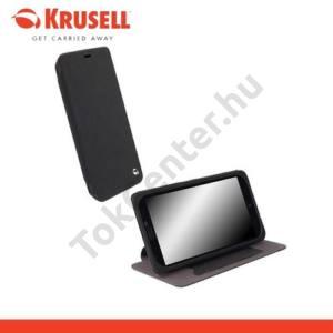 Nokia Lumia 1320 KRUSELL FlipCover MALMÖ, műanyag telefonvédő (oldalra nyíló bőr flip, asztali tartó funkció, bankkáryta tartó) FEKETE