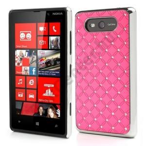 Nokia Lumia 820 Műanyag telefonvédő (strasszkő) RÓZSASZÍN
