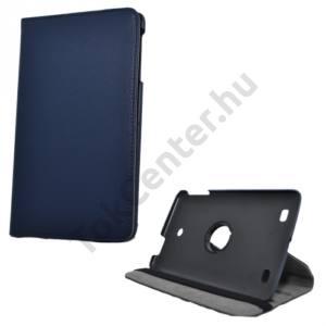 LG G Pad 8.0 (V480) Tok álló, bőr (FLIP, asztali tartó funkció, 360°-ban forgatható) SÖTÉTKÉK