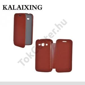 Samsung Galaxy Ace 3 LTE (GT-S7275) KALAIXING tok álló, ENLAND (oldalra nyíló) BARNA
